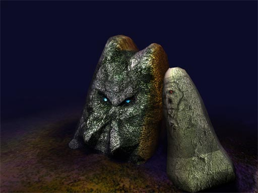 Rune stone modelling and texturing